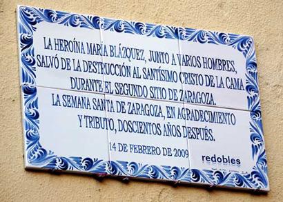 Placa Maria Blazquez