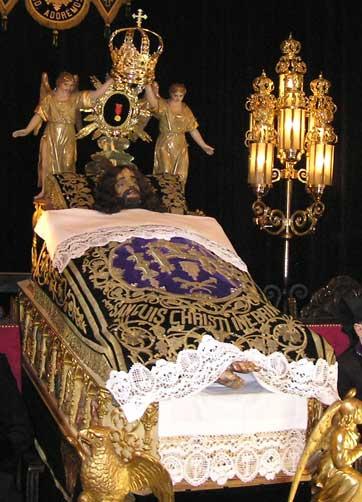 Cristo en la cama